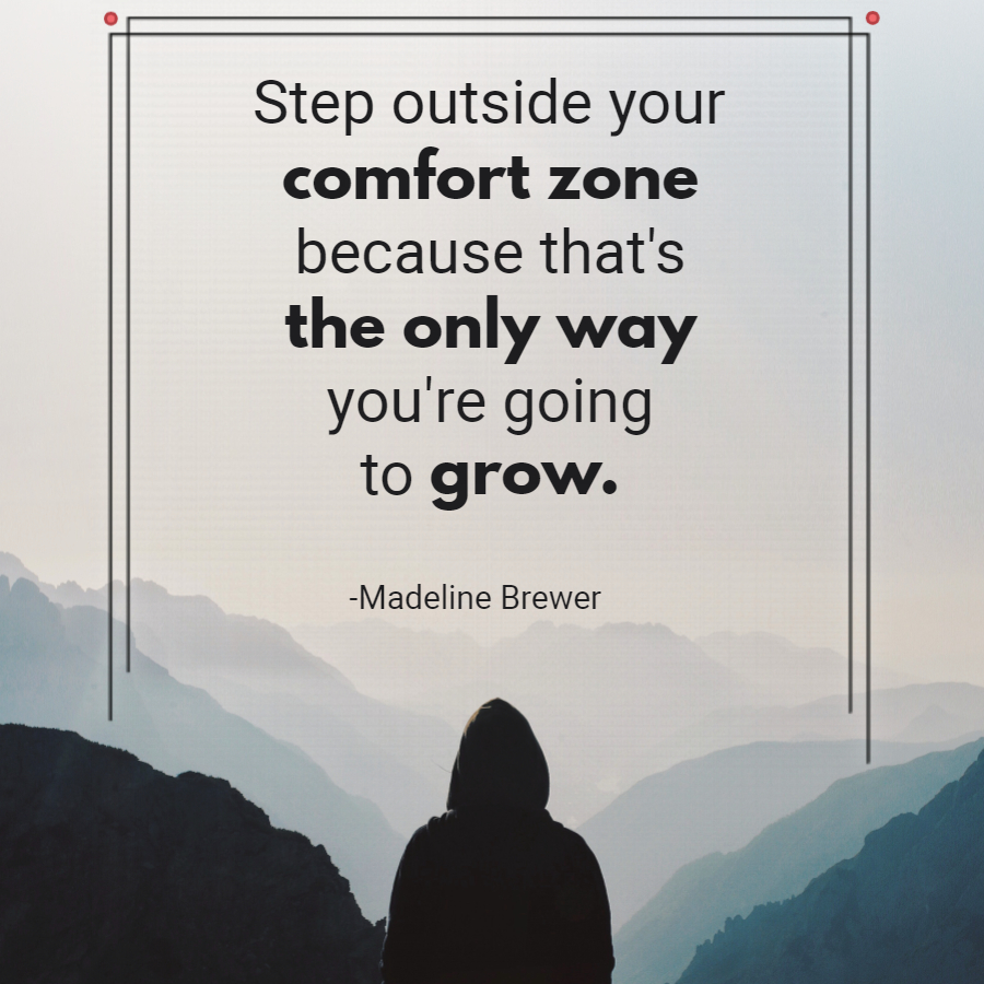 Step outside your comfort zone because that's the only way your're going to grow. #Inspiration  #motivation pic.twitter.com/kEjknFN3R8