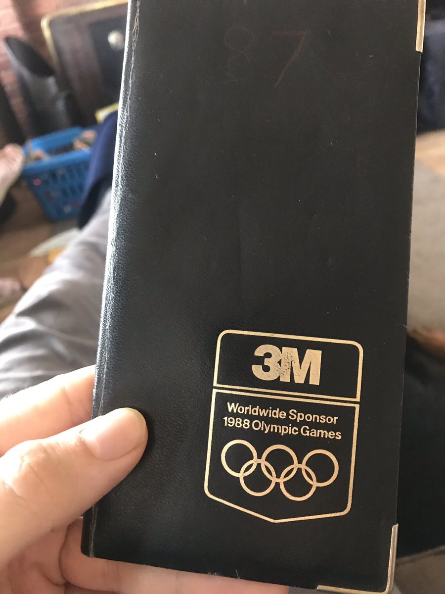 Dad's #diaries are fascinating to read during #CoronaLockdown. Here is 1987's cover for the 1988 olympics & map of Europe inc. W.Germany & USSR. Try & see what other events lie on oily pages & listen here:  🎧 #History #podcast #PodNation #NUFC @Hadawayman