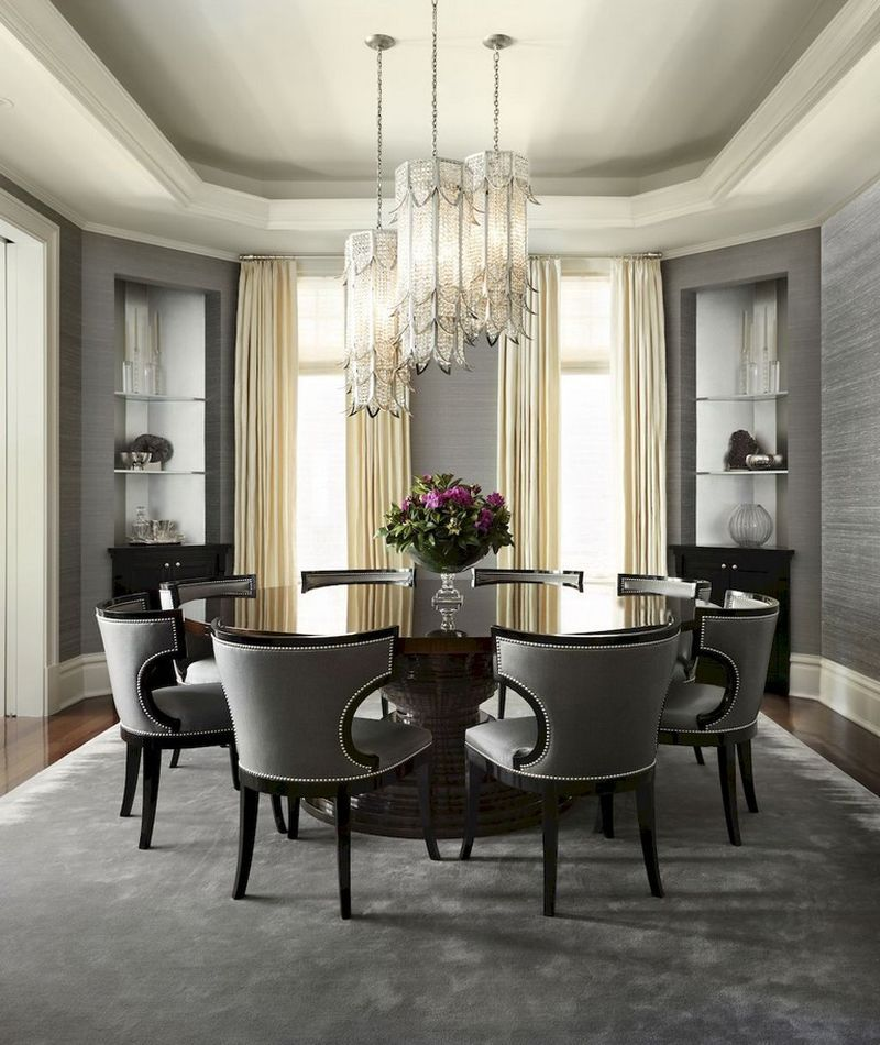 The luxurious dining room design gives a charming impression. Modern style table and chairs are comfortable for ourselves. #HomeDecor #furnituredesign #moderndesign #modernfurniture pic.twitter.com/6rTfQO1hLD