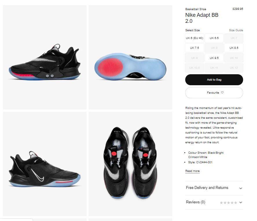 The Sole Restocks On Twitter Nike Adapt Bb 2 0 Black Crimson Sizes Back At Nike Uk Link Https T Co Zx4brpd6kp