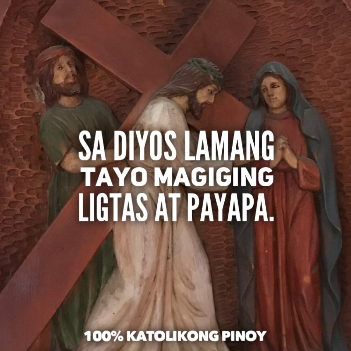 Sa Diyos lamang tayo magiging ligtas at payapa. 🙏