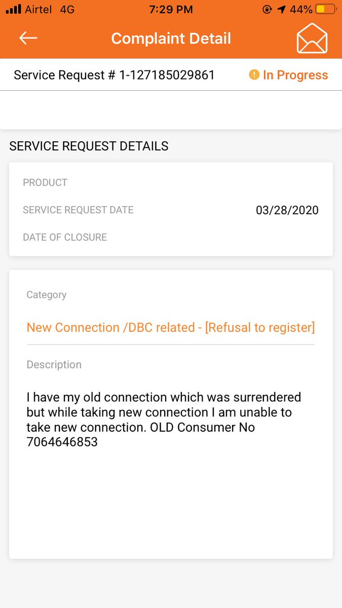 Hi @IOCL_UP @IndianOilcl @PetroleumMin In this tough time I needed an Indane gas connection but the gas distributor is saying I am already an connection. I had an connection in West Bengal which was surrendered 6months ago. I have raised an complaint in website. Plz look asap. pic.twitter.com/FAmrWooqow