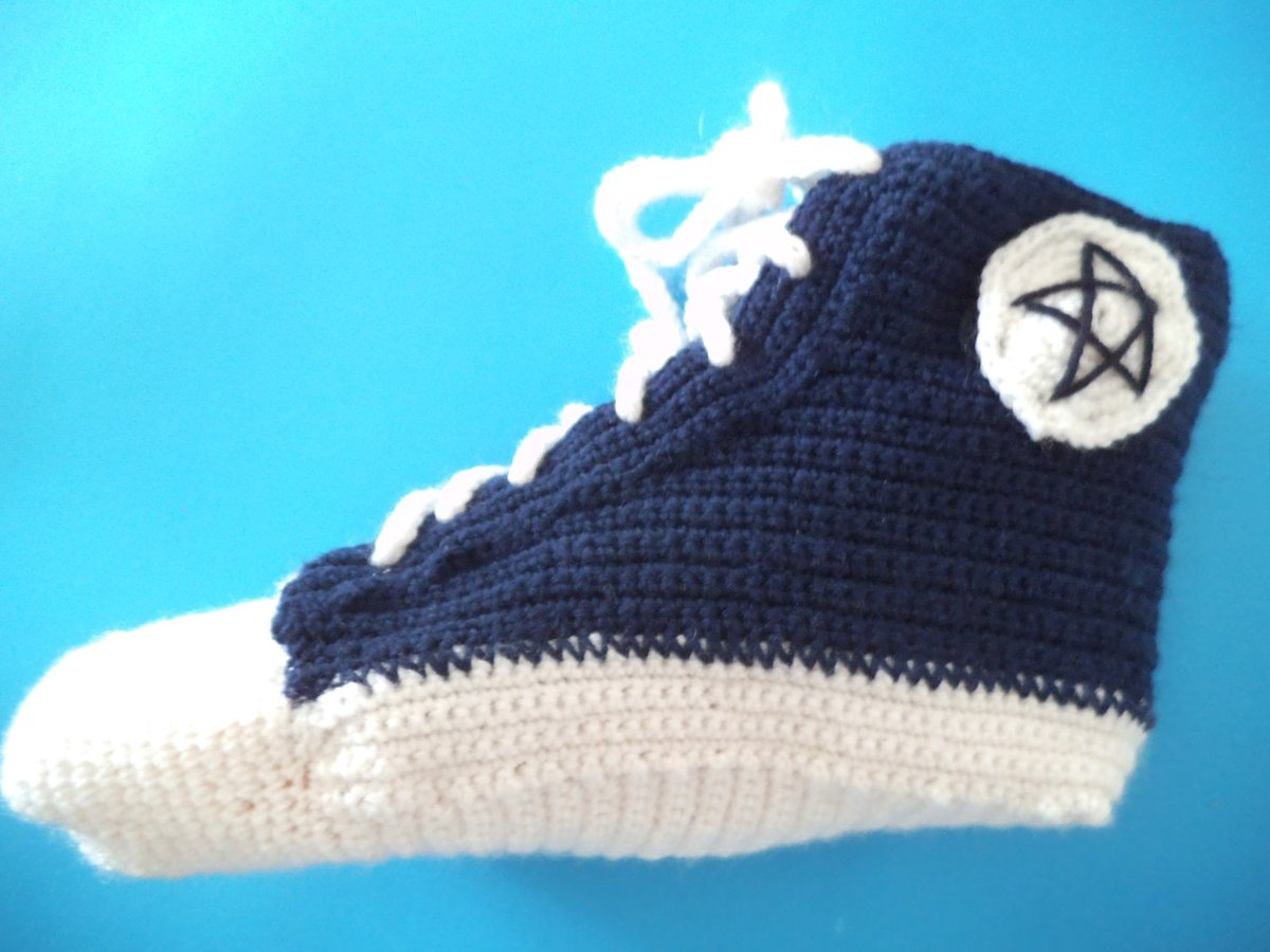 Knitted Converse, Novelty socks, Men Crochet Sneakers, Converse Slippers, Gift for teenager, Christmas gift ideas, Teen slippers, US 9 - 14 https://etsy.me/2gHgeA5 #HappyMonday #crowdfunding #Pottiteam #Supportsmallbusiness #EtsyTeamUNITYpic.twitter.com/OT6tl6mlCt