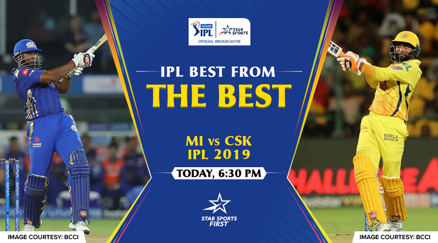 Think classic, think #MIvCSK match-up!   A VIVO IPL rivalry like none other – catch the repeat airing of their #VIVOIPL2019 ⚔️ today. https://t.co/U7KxOBBEAw