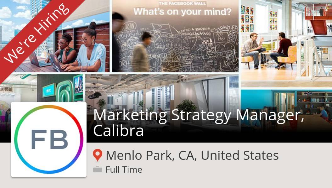 #Facebook is looking for a #Marketing Strategy #Manager, Calibra, apply now! (#MenloParkCAUnitedStates) #job https://workfor.us/facebook/11pvpic.twitter.com/IxuNVmn6bk
