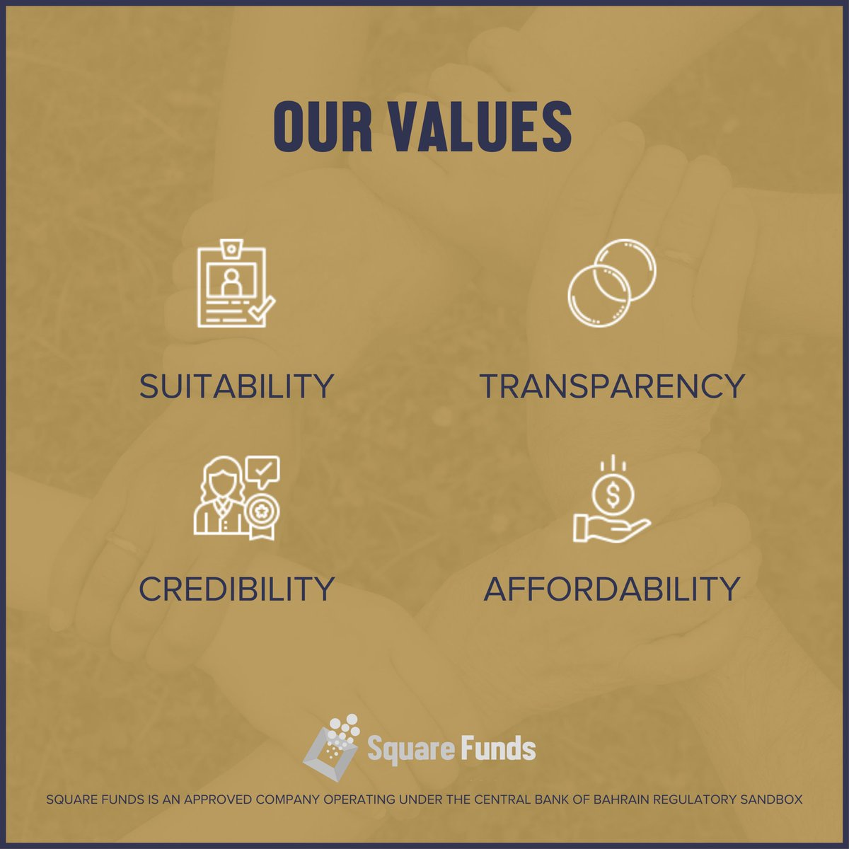 Our values and what we stand for. #SquareFunds https://t.co/NrRVo43rWz