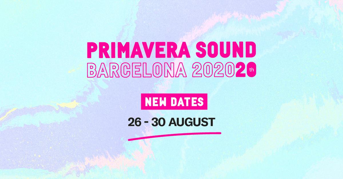 O @Primavera_Sound de Barcelona foi adiado de 3 a 7 de Junho para 26 a 30 de Agosto.  Supomos que não deverá faltar muito para termos a mesma notícia do @nos_primavera  o primeiro grande festival do calendário 2021 em Portugal.pic.twitter.com/voONRpGRHy