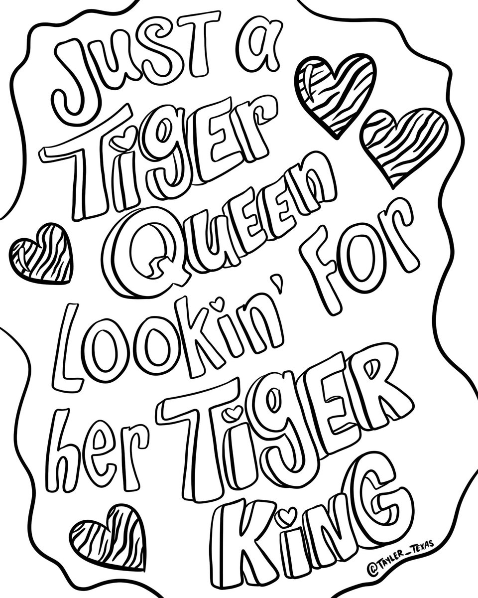 Tayler Texas On Twitter Good Mornin Folks I Made Some Tigerking Coloring Pages For Y All Screenshot Print Color Enjoy Tigerkingnetflix Https T Co 04yaxrtahd