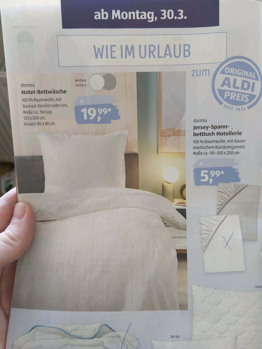 Hendrik On Twitter Aldi Brochure Like On Vacation Hotel Bedding Lol They Planned That