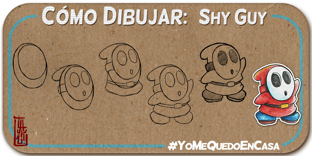 Cómo dibujar a Shy Guy. #YoMeQuedoEnCasa  #Marzocreativo #sketcheveryday #sketchbook #sketchoftheday #drawingoftheday #drawing #artshare #TakuDomguezpic.twitter.com/YREduE7art