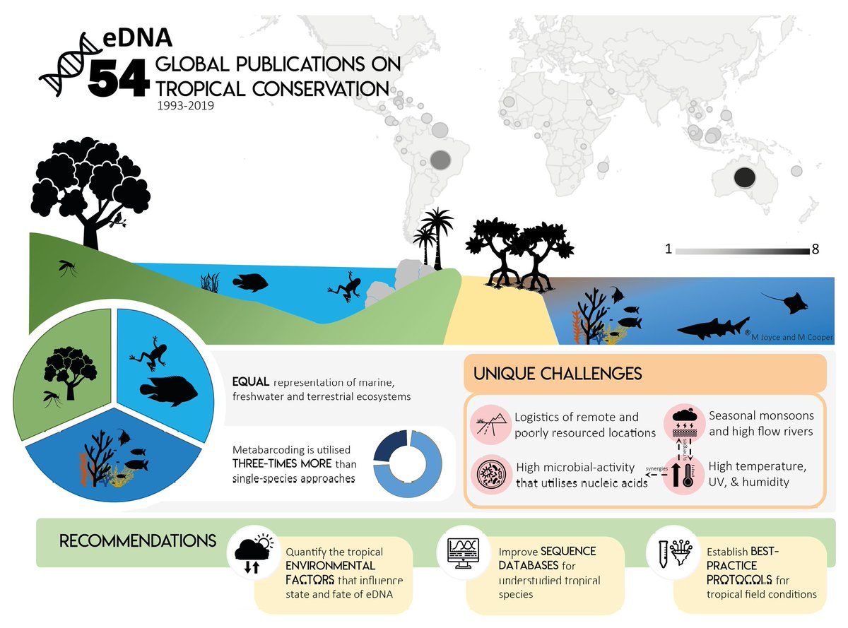 Our review on the use of #eDNA for #conservation in the #tropics is finally available online! @AnimalConserv @CSTFA_JCU @TropWATER @jcu https://doi.org/10.1111/acv.12583 …pic.twitter.com/PoVKNP9OyJ