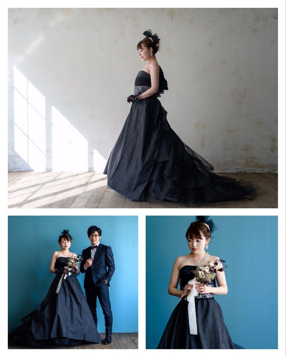""" black dress ""  #ウエディング #ブライダル #ドレス #デニムドレス #ブラックデニム #岡山 #ポートレート #作品撮り pic.twitter.com/iHQT8hFIHW"
