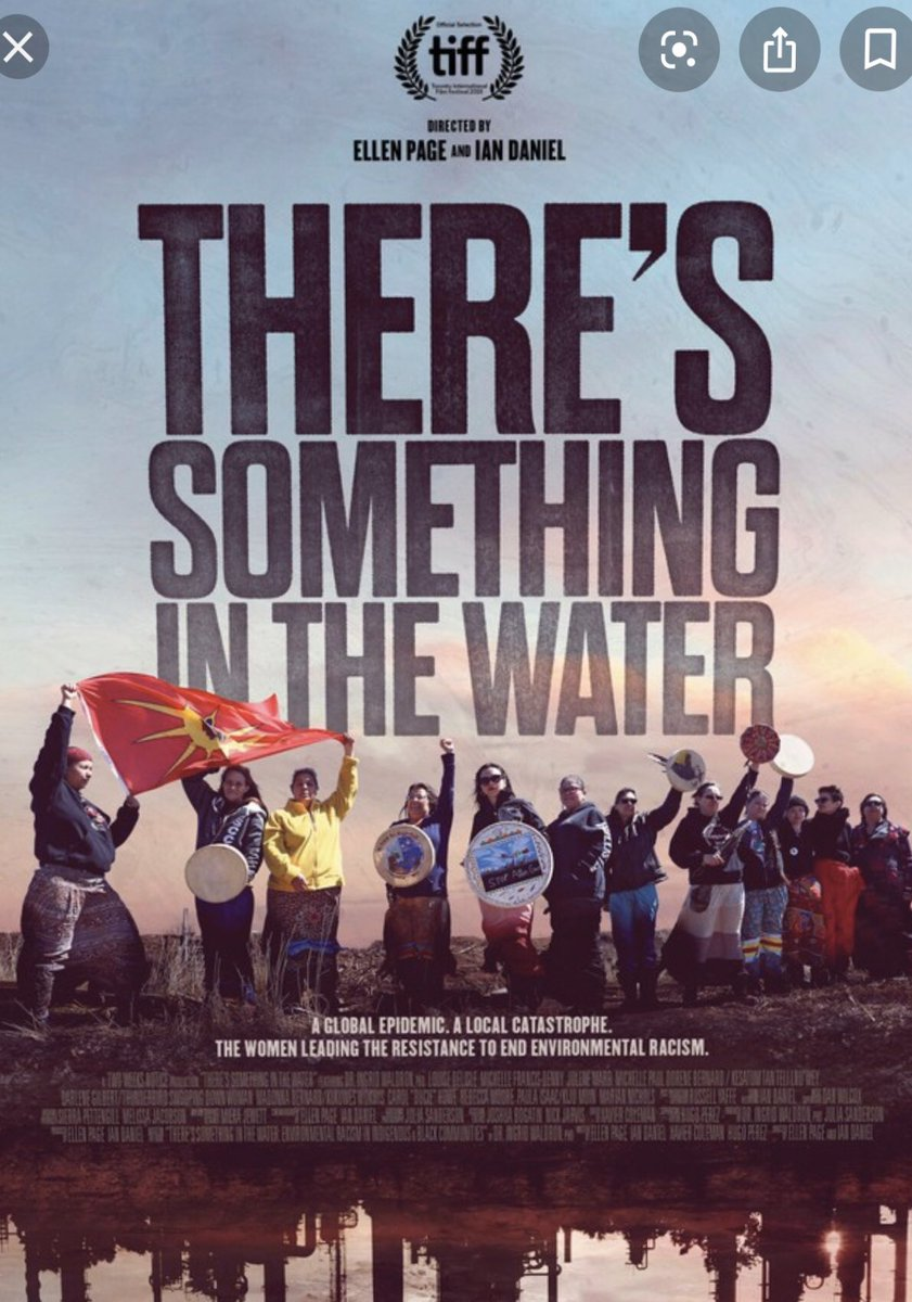 """We got to watch """"There's Something in the Water"""" on Netflix last night. I have such deep appreciation for Louise, Michelle, Dorene, and so many others for having the courage to speak up and share these important stories ❤️ Thank you @iwaldron2165, @EllenPage, and @ianjdaniel."""