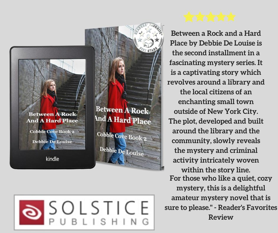 """If you're looking for a """"captivating story"""" and a """"delightful amateur mystery novel"""" for a #WeekendReading, check out this  5-star @ReadersFavorite #review of my Cobble Cove #cozymystery, Between a Rock and a Hard Place. (http://mybook.to/CobbleCove2) @Solsticepublishpic.twitter.com/cYmJjlKaDa"""