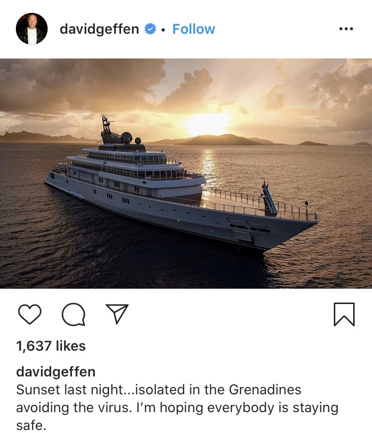 Thanks, David Geffen, for your thoughts.