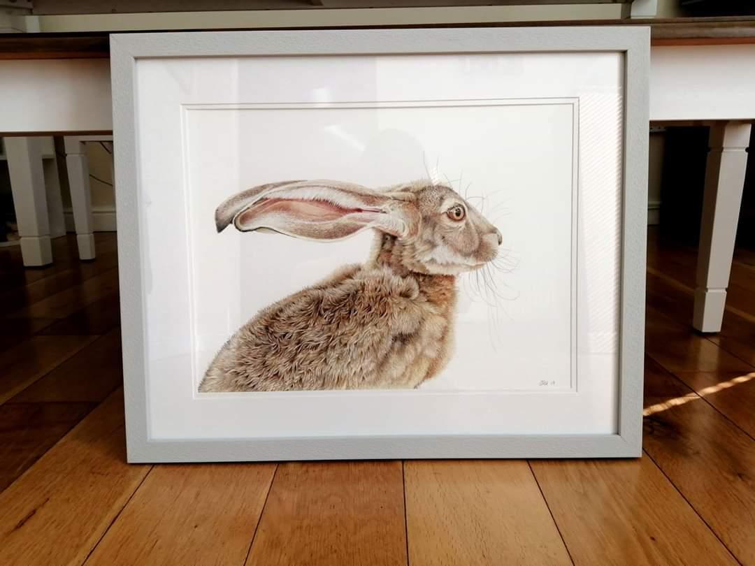 Love seeing my artwork framed.  #pencilart #wildlife #artistpic.twitter.com/PHJSLQvpfz