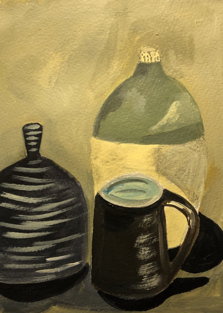 Pots #painting #hobbieskeepyousane90 min acrylic ..what day is it?
