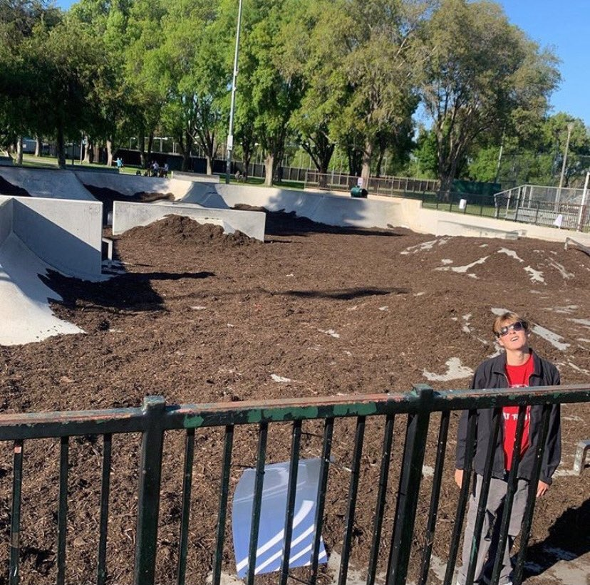 One of the skateparks in Long Beach couldn't get people to stop showing up so they did this.