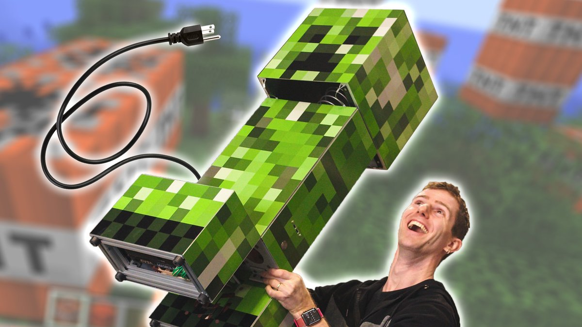 New Video! We built a Creeper PC for Pewdiepie!   https://www.youtube.com/watch?v=JBwMDfMfSNU …