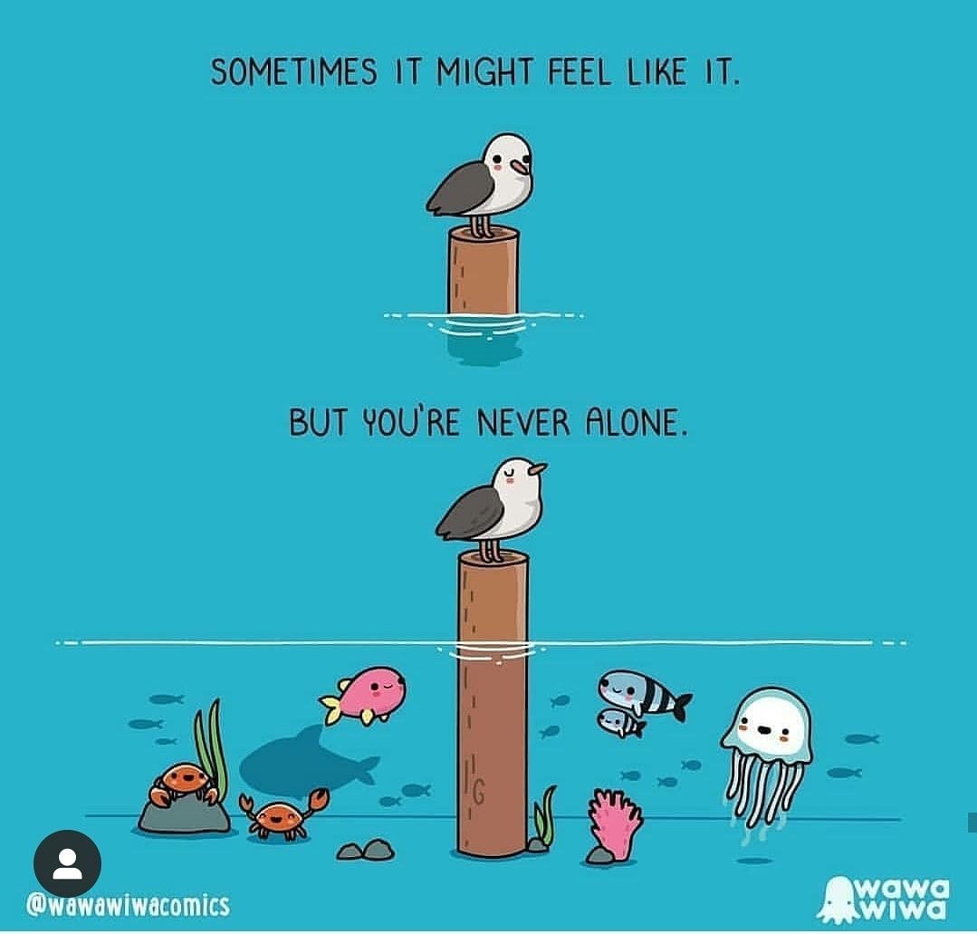 Tag people, whom you want to tell that he/she is not alone. #relationships #love #care #relationship #positivepsychology #togetherness #human #humanity #beatblue #psychicreading @wawawiwacomics pic.twitter.com/vrVgPq4e4g