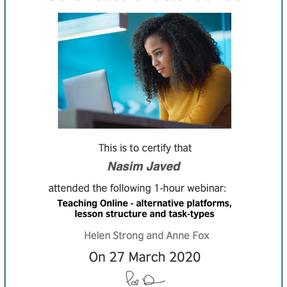 Nasim English Academy is committed to offering online-IELTS-course by the end of  the next month - April 2020. She is carving her way out through the world of online teaching and has made her first stride to expand far and wide. pic.twitter.com/lZigPKBGi9