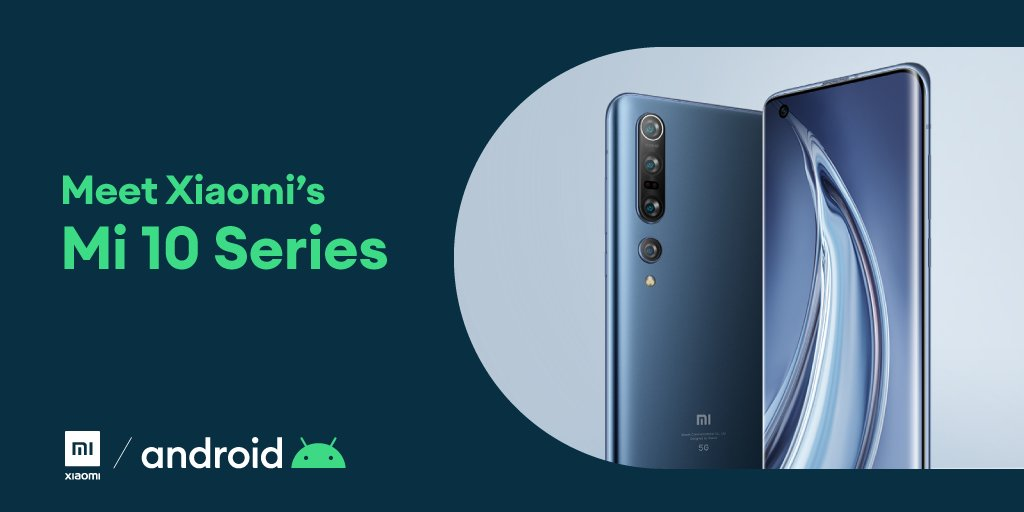 Congratulations @Xiaomi on the #Mi10 Series global launch 🎉. We're excited for another decade of working together to bring the latest #Android features to @miuirom 📱. #Xiaomi #LightsCameraAction