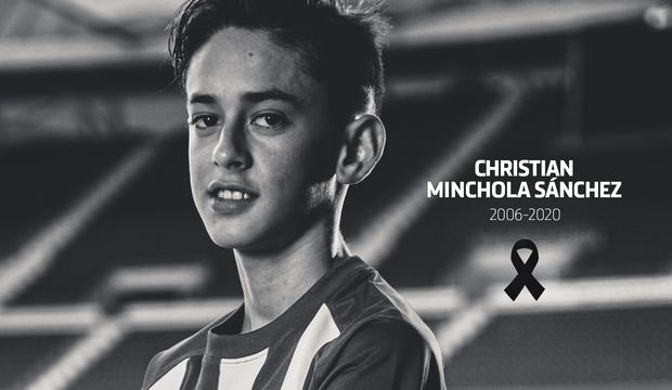 BREAKING: Atletico Madrid's 14-year-old academy star, Christian Minchola has sadly passed away.