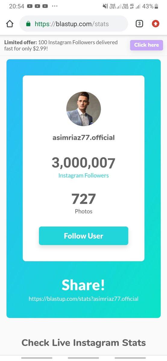 3M completed  #AsimRiaz #AsimForTheWin #AsimRiazFever<br>http://pic.twitter.com/G70vMgINAs