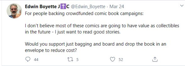 No thank you,Edwin.  People spent $25+ on Mike's book, plenty of extra money for shipping.  They ARE collectibles.    Could you please tell him to ship the books carefully in appropriately protective mailers to his customers?    I'm sure they'd appreciate it! <br>http://pic.twitter.com/1Fr4GKu2og