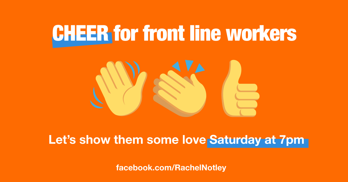 Were so thankful to Front Line Workers for everything they do through this pandemic. Let's show them some love by cheering for them from our porches, balconies, from where ever you can! KICK-OFF tonight at 7pm #AlbertaCares #ableg #abpoli #COVID19AB facebook.com/events/3369701…