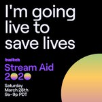 Image for the Tweet beginning: LIVE with #TwitchStreamAid