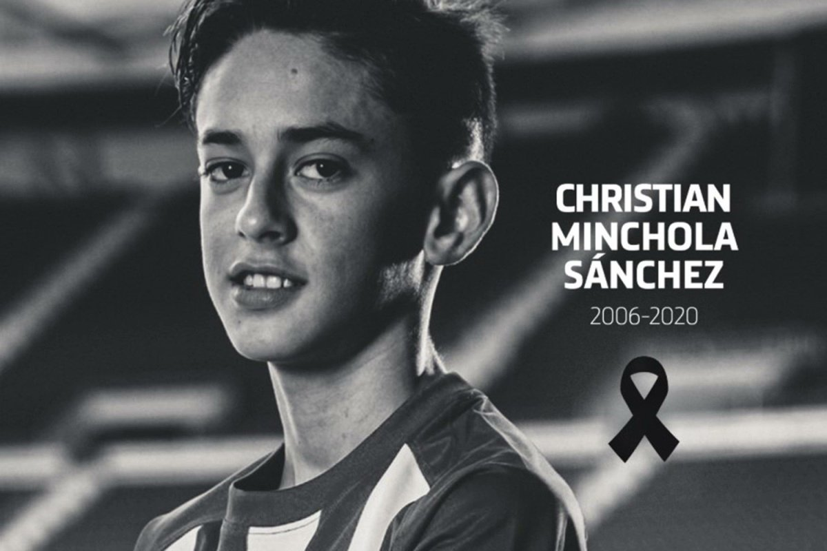 Atletico Madrid's 14-year-old youth player Christian Minchola tragically passed away today.  Rest In Peace 💔
