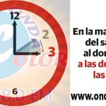 Image for the Tweet beginning: #CambioDeHora
