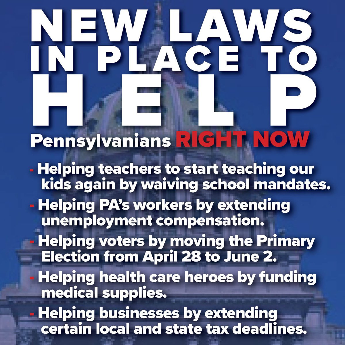 Get some specifics on these new laws at PAHouseGOP.com/cvhelp