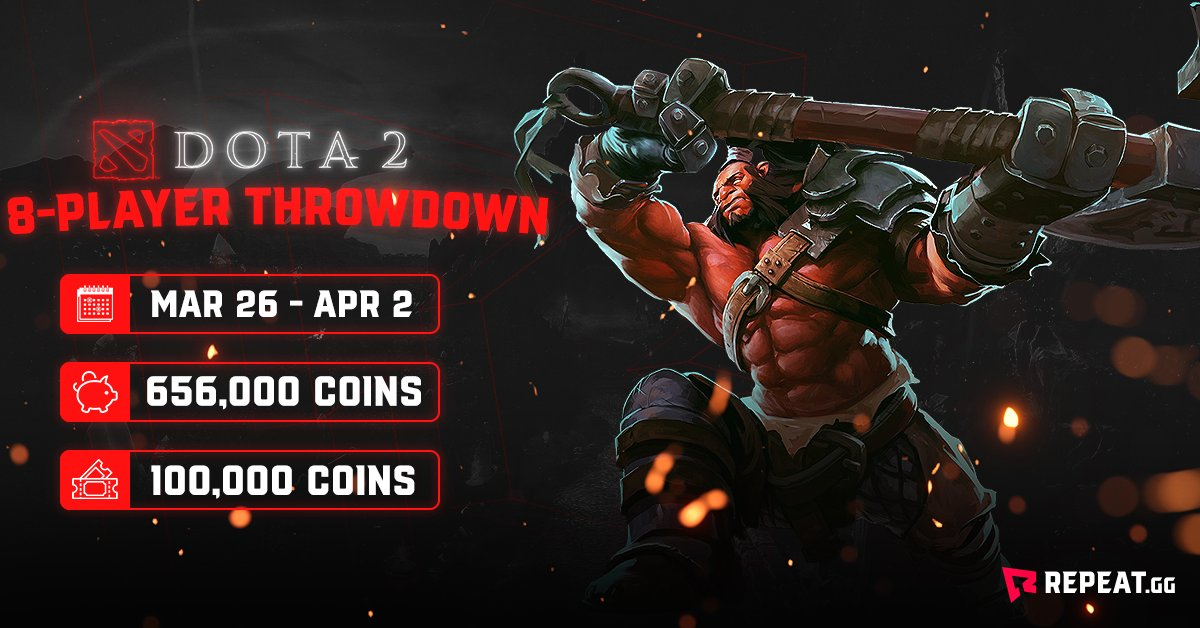 8 players enter, 3 emerge victorious. The stakes are high in this week's 8-Player Throwdown  🕹Game - @DOTA2 🥇1st place - 329,000 coins 🔗Link - https://bit.ly/33TAHX9  #Dota2 #Dota #MOBA #esport