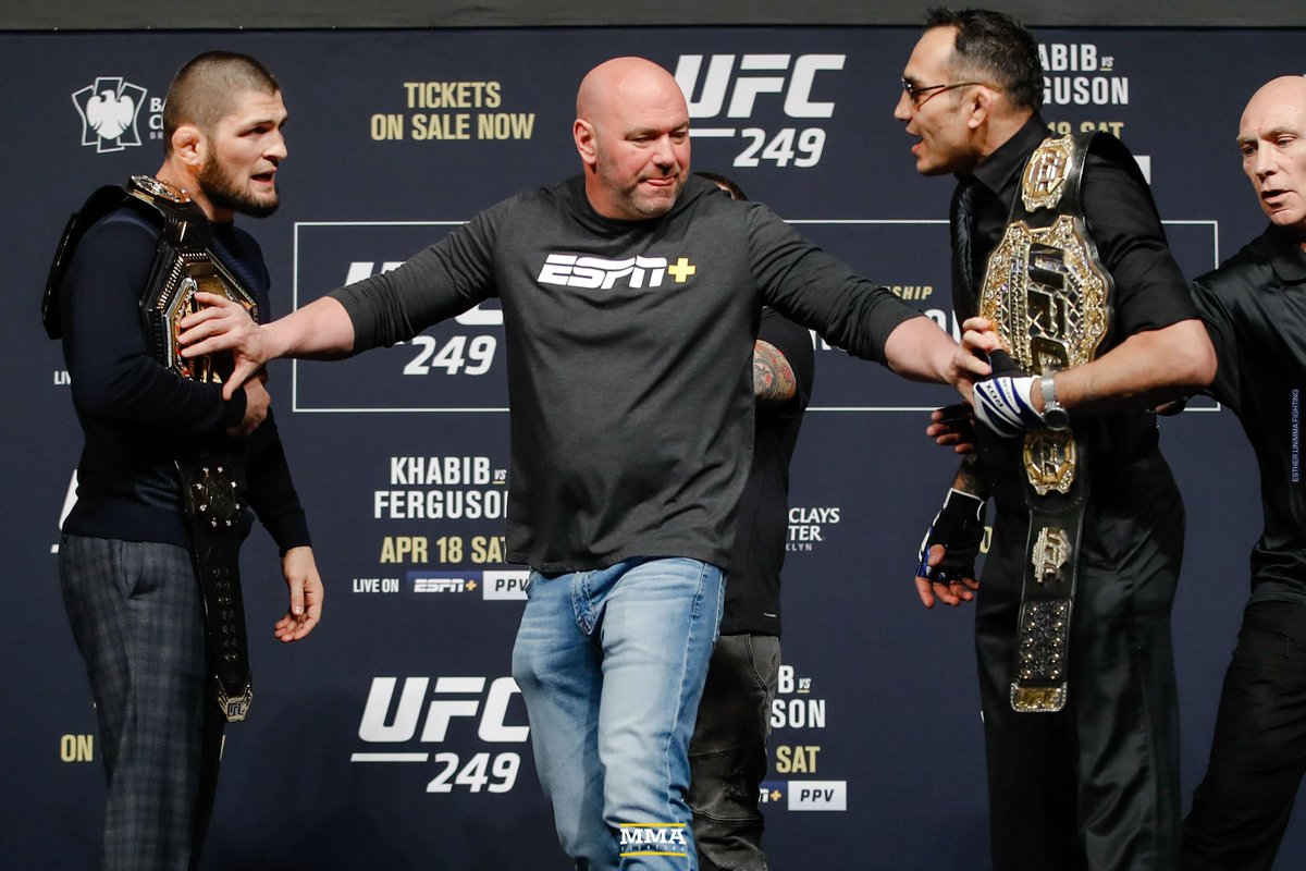 Dana White: 'I have four to five locations' for UFC 249 (@MikeHeck_JR) mmafighting.com/2020/3/28/2119…