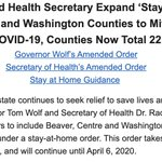 Image for the Tweet beginning: BREAKING: @GovernorTomWolf expands stay-at-home order