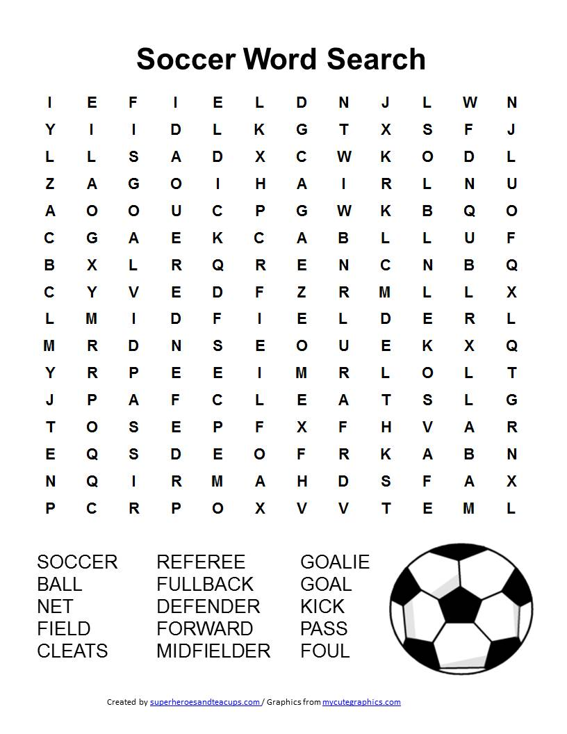 As you are all at home and can not play soccer, I have a little quiz for you. Who finds the words?