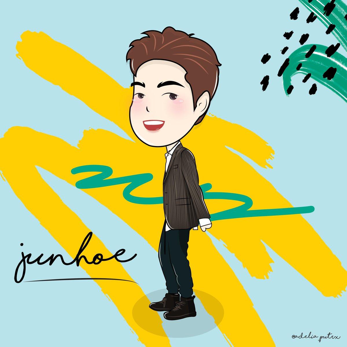 June fanart . . Request order @nrvnpntr  #chibi #fanart #cute #ikon #june #fanartikon #fanartjune #kpop #design #ilustrasi #adobeillustrator #junhoe<br>http://pic.twitter.com/HNO0VKT7Pf
