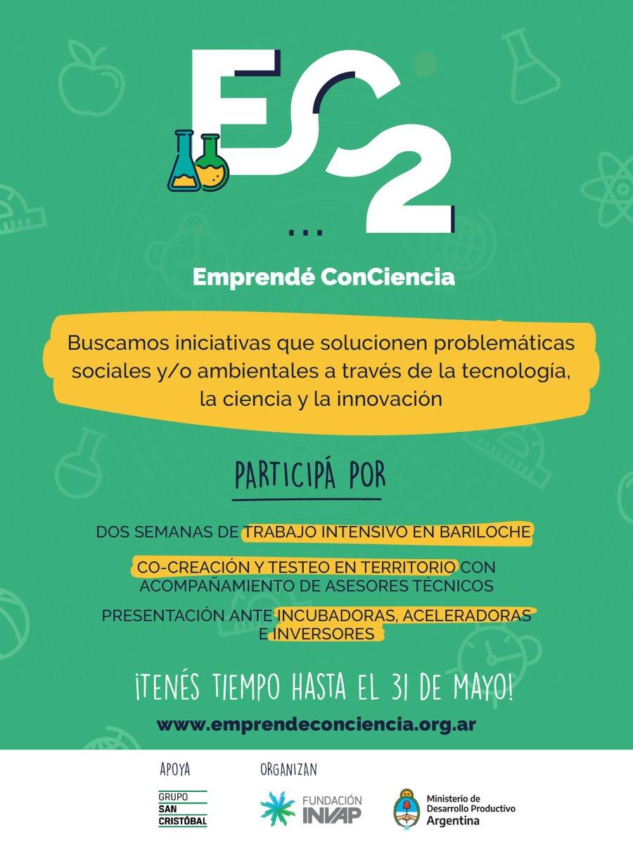 Participá de una experiencia de desarrollo emprendedor basada en la colaboración y no en la competencia de la mano de #EmprendéConCiencia.  Inscribite http://bit.ly/2TrzUsM #EC2pic.twitter.com/meAJajw3U2
