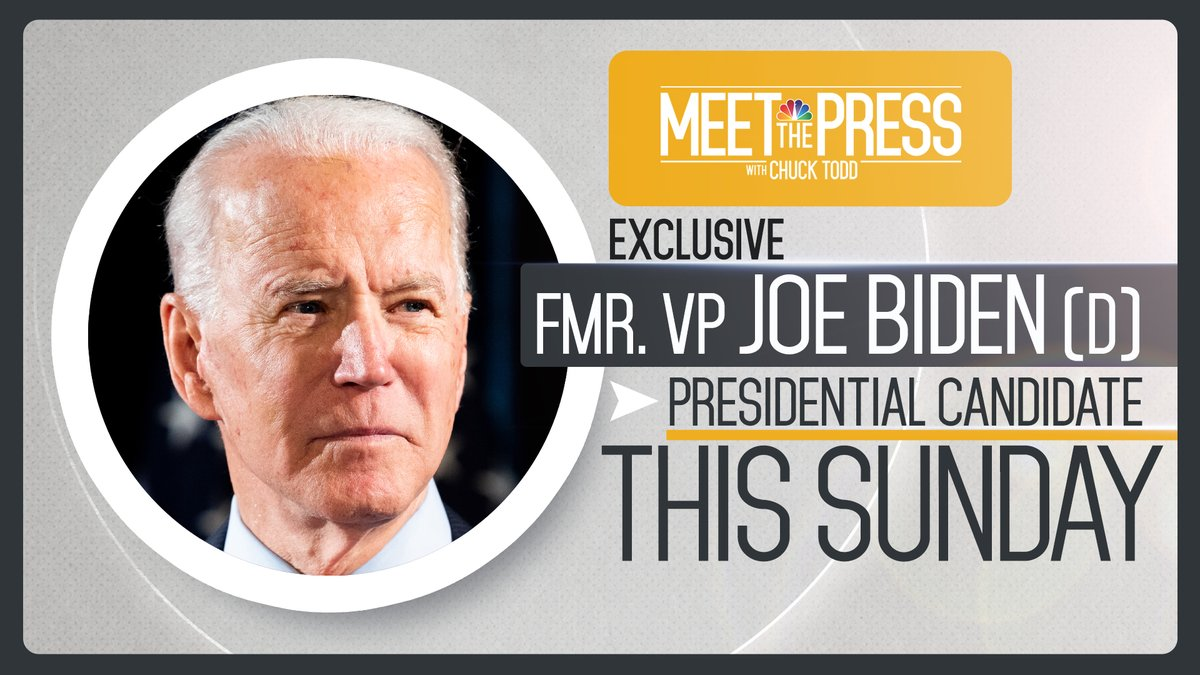 TOMORROW: Exclusive interview with Former VP @JoeBiden in a special edition of #MTP.