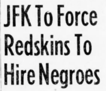 A headline that ran on this day in 1961. #Redskins
