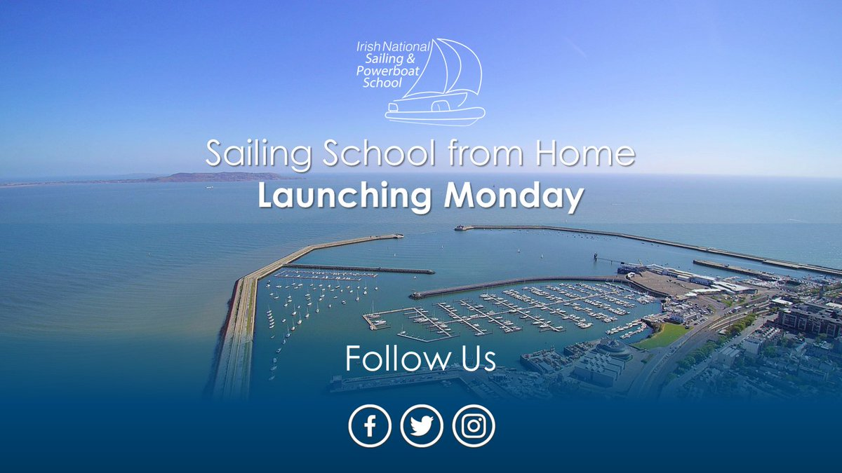 We're delighted to say that we're launching Sailing School from Home on Monday, featuring a series of free short theory lectures on topics ranging from kids sailing, powerboating, yachting and some of our shore based programmes. (1/4) pic.twitter.com/cKbt3kVcTq