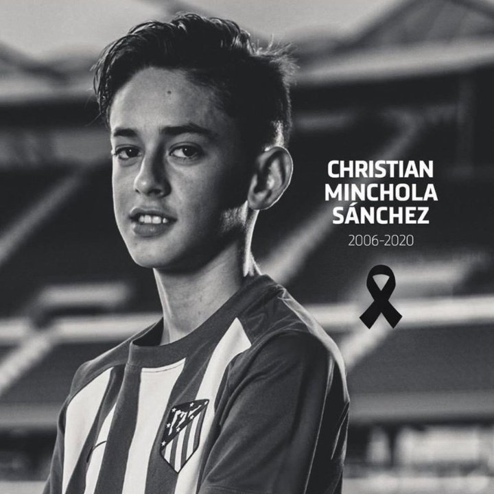 Ath Madrid young player Christian Minchola of U14 died today . The reason for this Tragic incident is still unknown.  Young Lad scored 50 goals for Atletico Academy.  May His soul rest in peace.  My condolences to his family and friends😭😭❤❤  #Christian