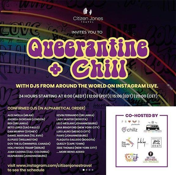 Queerantine + Chill   24 hrs featuring DJs from around the world @drniiquartelai . Sat Mar 28th   3 PM EST . . . #livestream #streamcalendarlive #streaminglive #streamentertainment #streamerlife #globaldj #aroundtheworld #djs #livefeed #djparty #danceparty #24hrs #djworldpic.twitter.com/uu6wPv3l5i