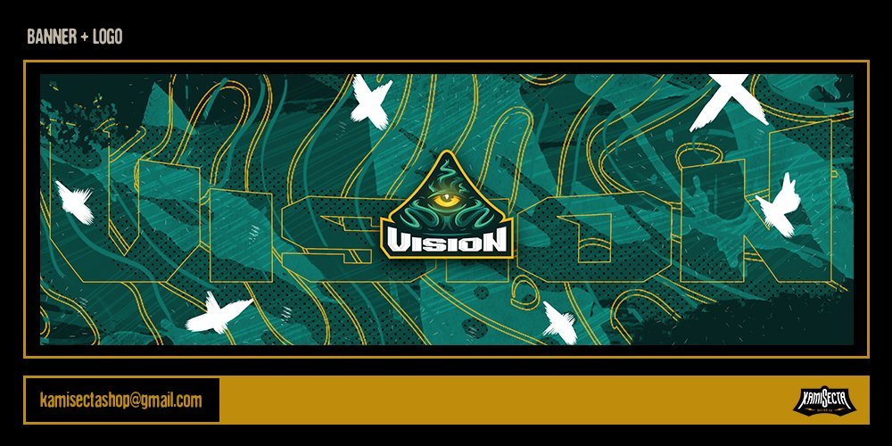 Banner + logo for @TheVisionGG   I hope you like it  #banner #LogoDesign #vision pic.twitter.com/ip2ktTfUbL