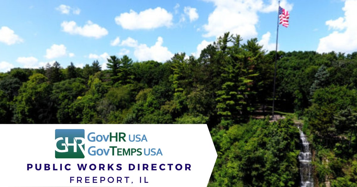 Freeport, IL - Public Works Director. Apply Now at  @GovHRUSA @visitfreeportil #localgov #govjobs #govhr