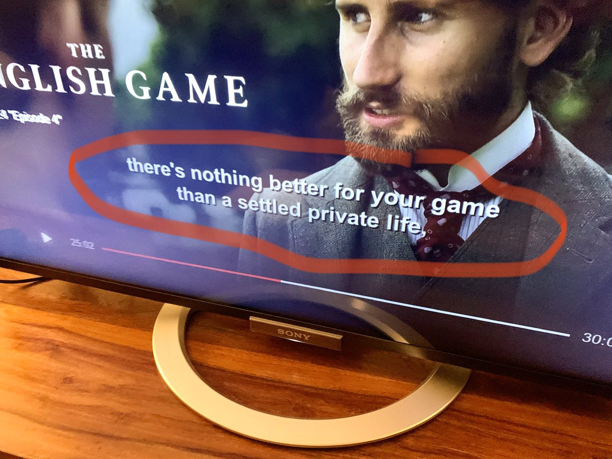 """""""There is nothing better for your game than a settled private #life."""" #Amazing words. Words of #wisdom. From @netflix's """"The #English Game"""" #MVirardi #football #lifelessons pic.twitter.com/TMX5hJF0F2"""