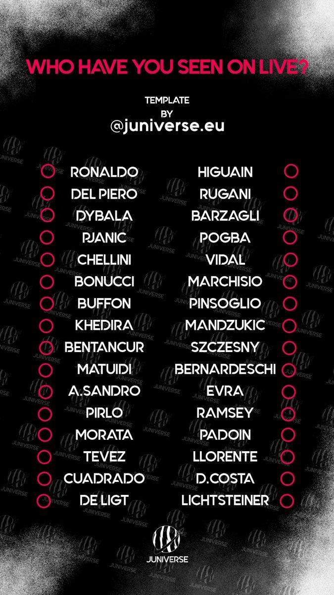 Who have you seen on live?   #FinoAllaFine #ForzaJuve pic.twitter.com/gm0BpUBhYV
