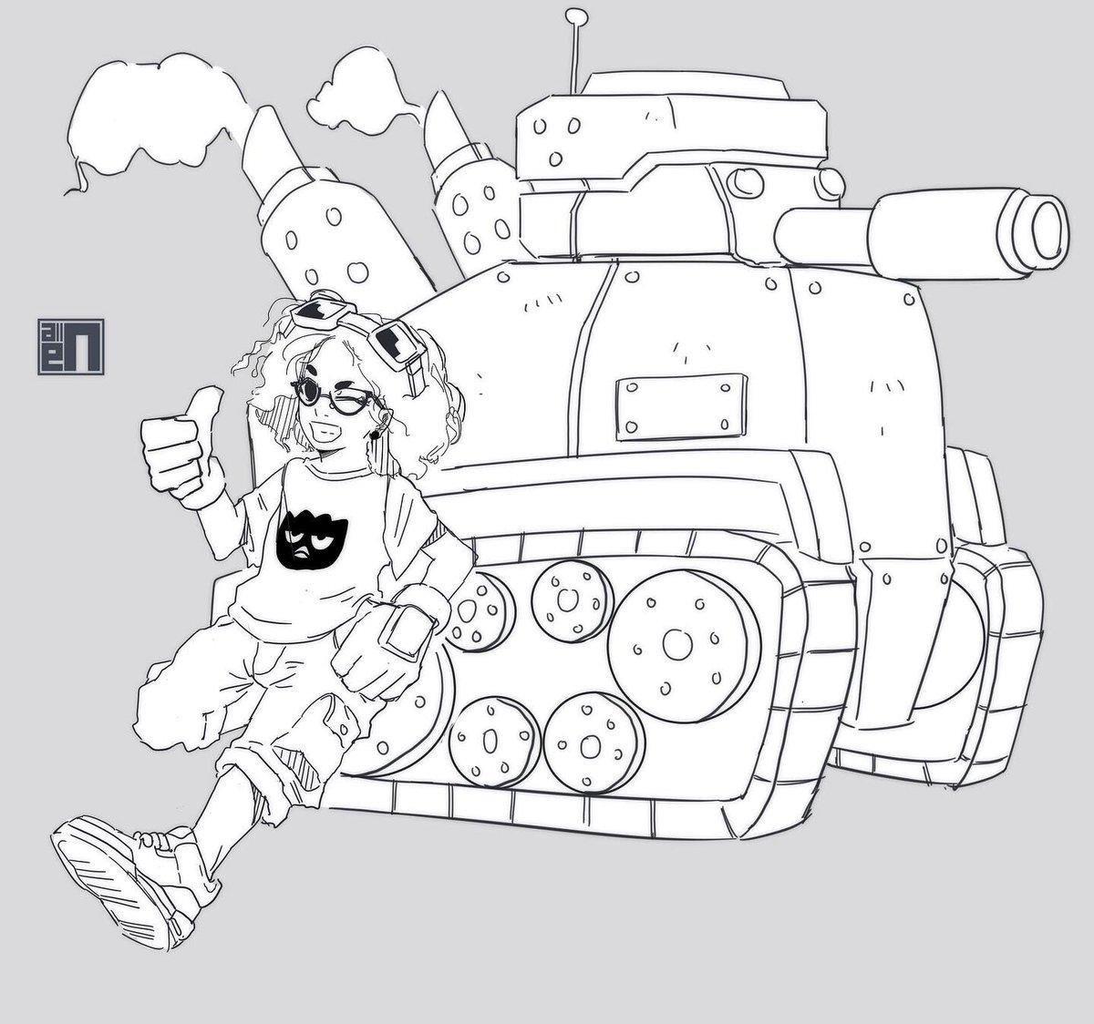 Line work w.i.p of my oc Gi Gi  #art #illustration #drawing #sketch #doodle #digitalart #digitalillustration #digitaldrawing #digitalsketch #manga #mangaart #anime #animeart #originalcharacter #oc #tank #characterdesign #tankgirl #blackanimecharacters #blackmangacharacterspic.twitter.com/ImFemFtUUX